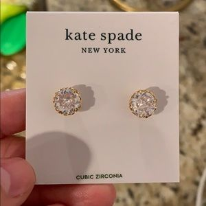 Never worn, brand new Kate Spade diamond studs